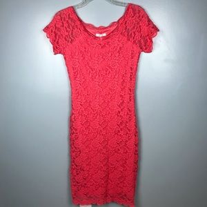 Maurices NWT Lace Coral Pink Dress